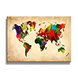 Amazon Price History for:yixuanwall art -canvas Prints,world map Wall Art oil Paintings Printed Pictures Stretched for Home Decoration hs0015