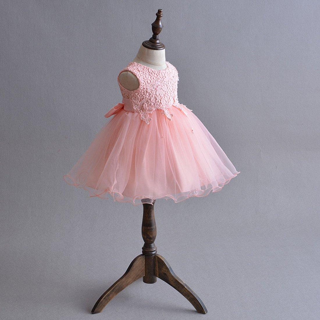 ADHS de recién nacido flores Bebés y Niñas Vestido de Princesa boda ...