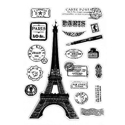 Runrain Paris Tower - Agenda de silicona transparente con ...