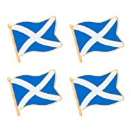 ALEY Scottish Scotland Flag Lapel Pin Decorations (4 Pack)