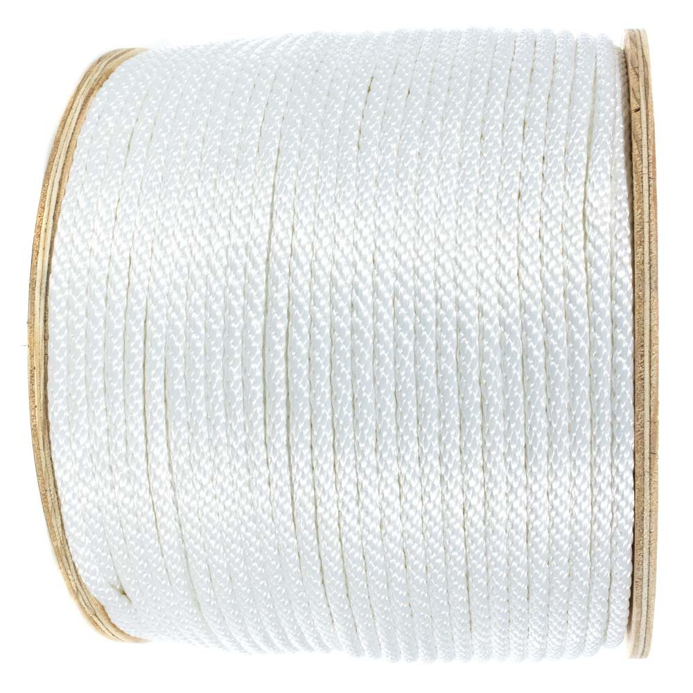 1//4-inch Various Lengths 5//16-inch 3//16-inch 3//8-inch Golberg Solid Braid White Nylon Rope 1//8-inch 1//2-inch