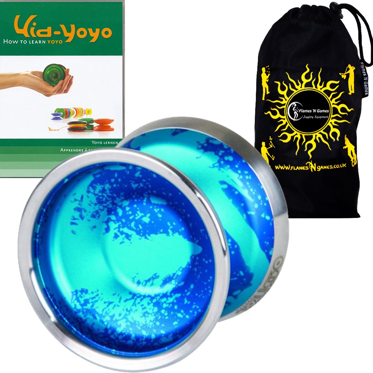 Duncan Orbital Medium Advanced Competition Model Yoyo - Supreme Quality Aluminium Medium Yo Yo For 1A Tricks + Kid YoYo DVD + Travel Bag! Ideal Yo-Yo for Competitions Off All Ages