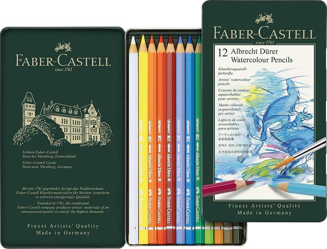 Faber Castell Albrecht Durer Acuarela Artista estaño lápiz juego de 12
