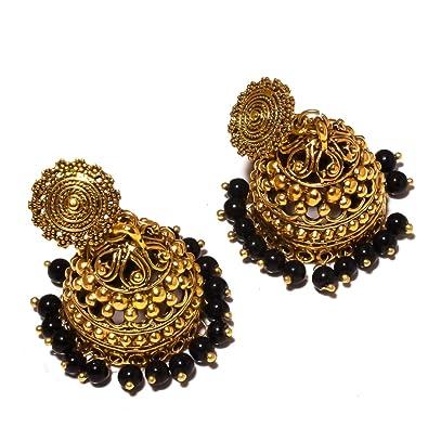 Handmade Art Jewelry Ethnic Wear Black Sunstone Sterling Silver Plated 5 grams Stud// Earring 12 mm