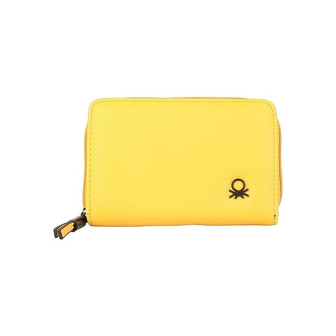 BENETTON cartera mujer 11A73725 amarillo - mujer - TU: Amazon.es: Zapatos y complementos