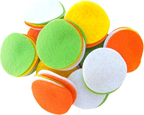 Playfully Ever After 5 Inch Orange 15pc Stiff Felt Circles