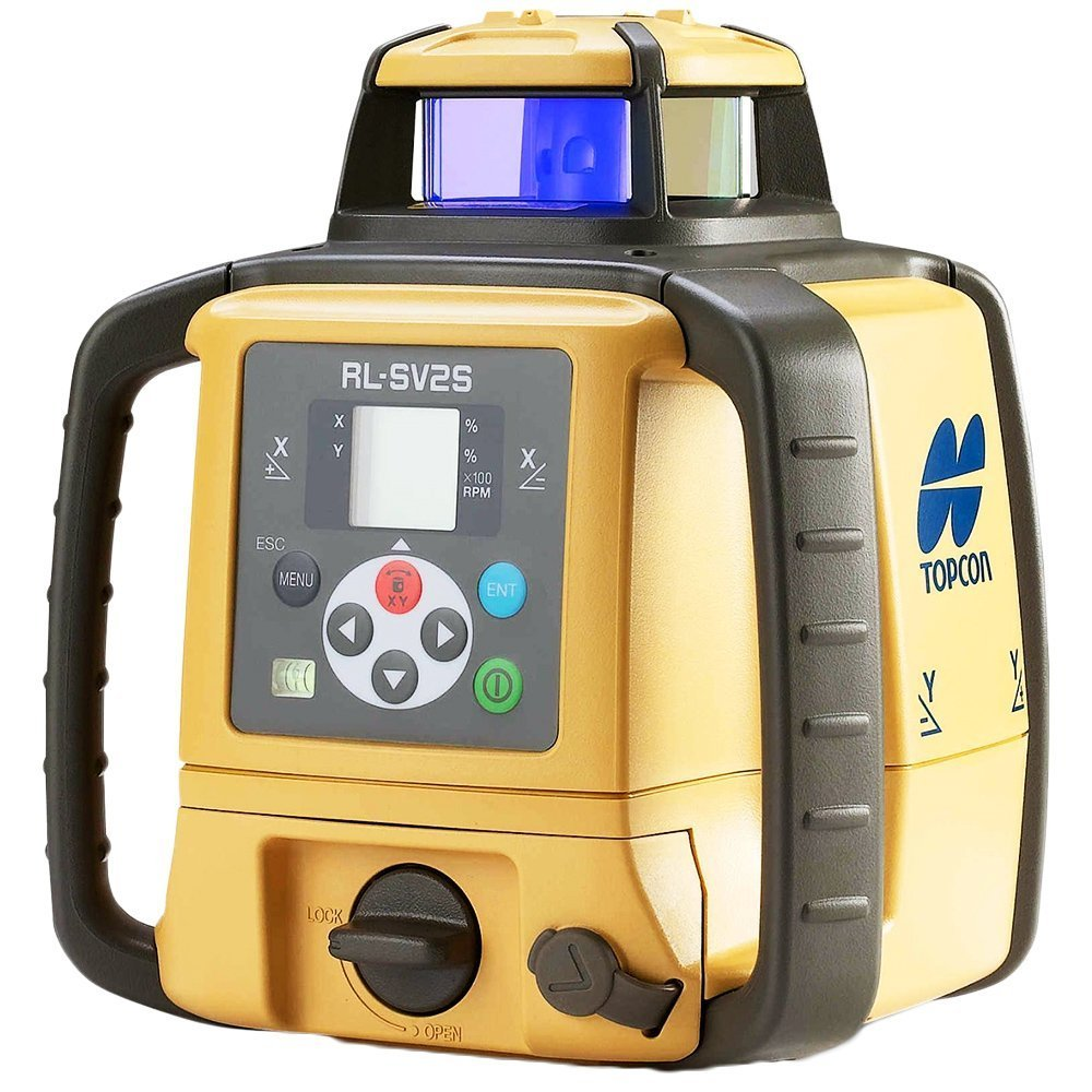 Topcon RL-SV2S Dual Grade Rotary Laser with BONUS EDEN Field Book | IP66 Rating Drop, Dust, Water Resistant | 800m Construction Laser | Includes LS-80L Receiver, Detector Holder, Hard Case by TOPCON (Image #3)