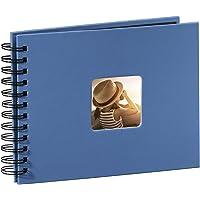 Hama Fine Art - Álbum de Fotos, 50 páginas Negras (25 Hojas), álbum con Espiral, 24 x 17 cm, con Compartimento para…