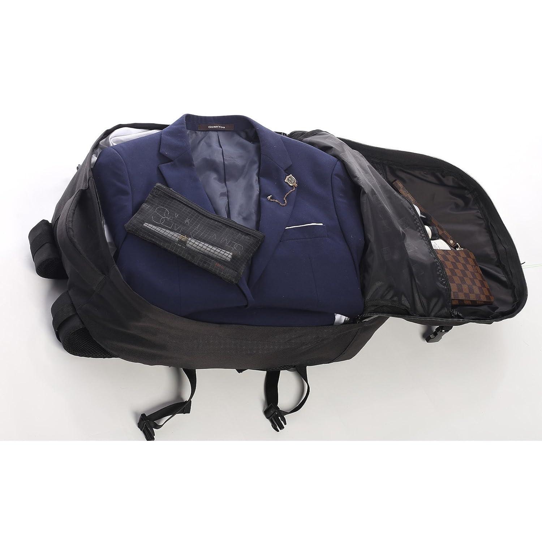 Aerolite Ryanair 55x40x20cm Maximale Sacs à Dos Cabine Approuvé Bagage à Main Noir + Sac Noir