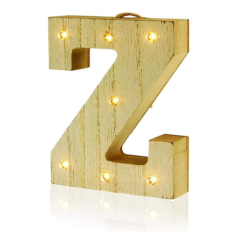 madera Premier Stationery Letra Z colgante de madera