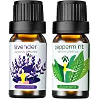 Homasy Essential Oils, 100% Pure & Natural Aromatherapy Oil, Therapeutic-Grade Upgraded Aroma Starter Gift Set for Baby Women Spa Relax