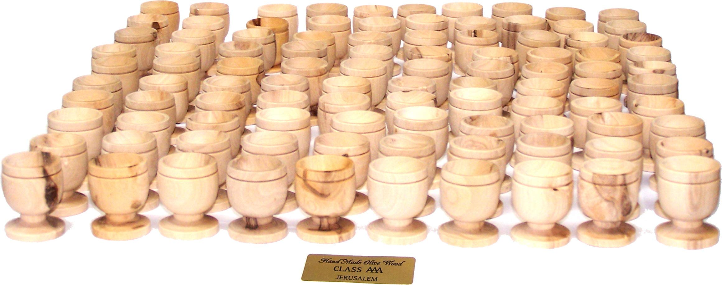 Holy Land Market Olive Wood Small Chalice or Goblet/Wine or Communion Church Cup (100)