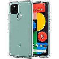 "MEZON Ultra Slim Premium Crystal Clear TPU Gel Back Case for Google Pixel 5 (6.0"") – Shock Absorption, Wireless Charging…"