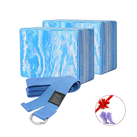Amazon.com : 2Pcs Yoga Foam Roller Block Pilates ...