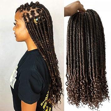 Amazoncom 6piece Goddess Locs Crochet Hair 18 Inch Soft Dreads