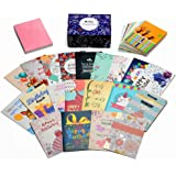 Birthday card box Set of 40 Unique Designs Assorted Birthday Cards It's Your Birthday With Three Colors Envelope Included