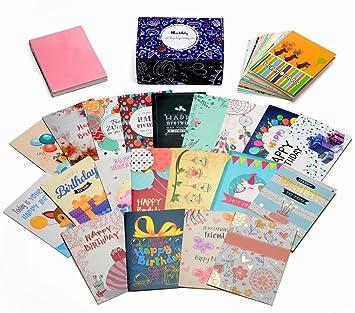 Amazon birthday cards box set honwally 40 packs assorted birthday cards box sethonwally 40 packs assorted birthday cards with gold embellishments40 bookmarktalkfo Gallery