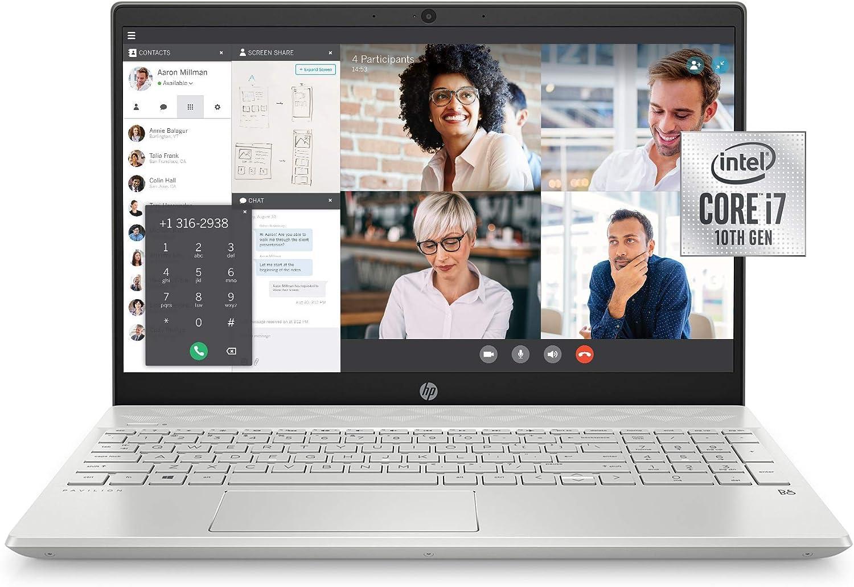 HP Pavilion 15-inch Laptop, Intel Core i7, 16 GB RAM, 512 GB SSD Storage, Intel Iris Plus Graphics, Windows 10 Pro, Amazon Alexa Voice Compatible (15-cs3019nr, Mineral Silver) (Renewed)