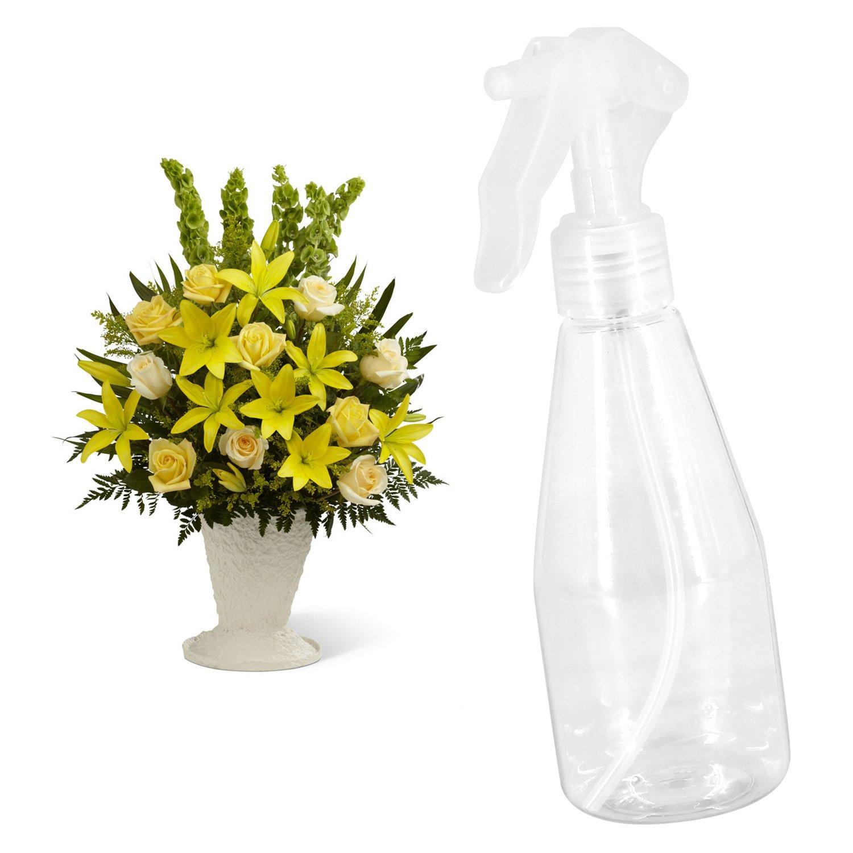 Almondcy - 3 botellas de plástico atomizadoras de 200 ml, portátiles y manuales, para regar las plantas del jardín, gatillo manual; para flores y para ...