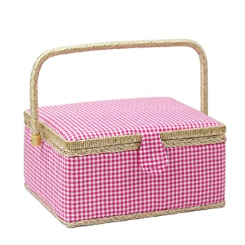 Sweetdecor Grande Boutique Caja de Regalo Joyas Caja de Costura Gamuza de Pinturas para Manualidades Caja