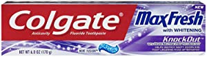 Colgate Max Fresh Knockout Gel Toothpaste, 6 Ounce Pack Of 3