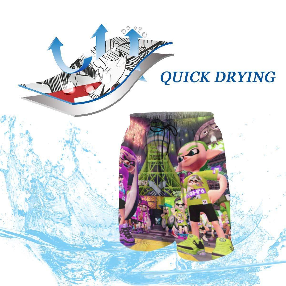 QZqDQ Funny Black Mini Dinosaur Teenagers Running Swim Board Shorts