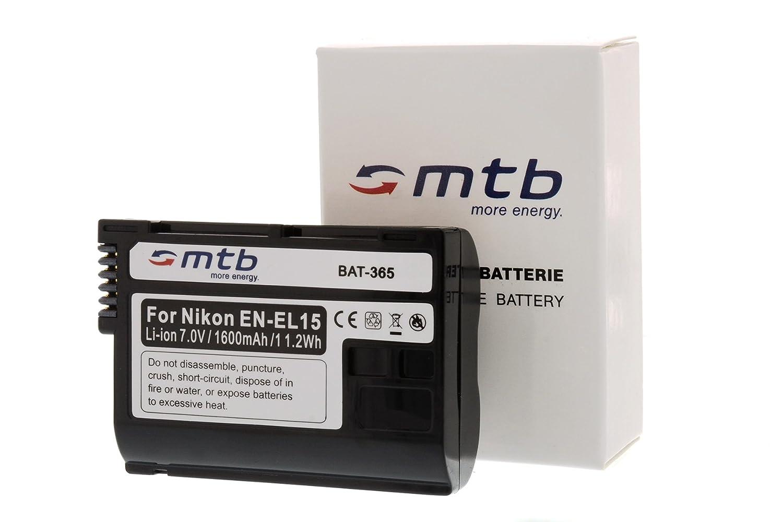 D600 para EN-EL15 D750 D610 D7500 contiene cable micro USB D800 D850 2 Bater/ías D7000 D7100 D500 // Nikon 1 V1 Cargador doble D810 USB E D7200 A A//E