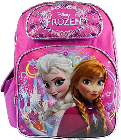 "Disney Princess Frozen Elsa Anna /& Olaf 12/"" inches backpack NEW Licensed"