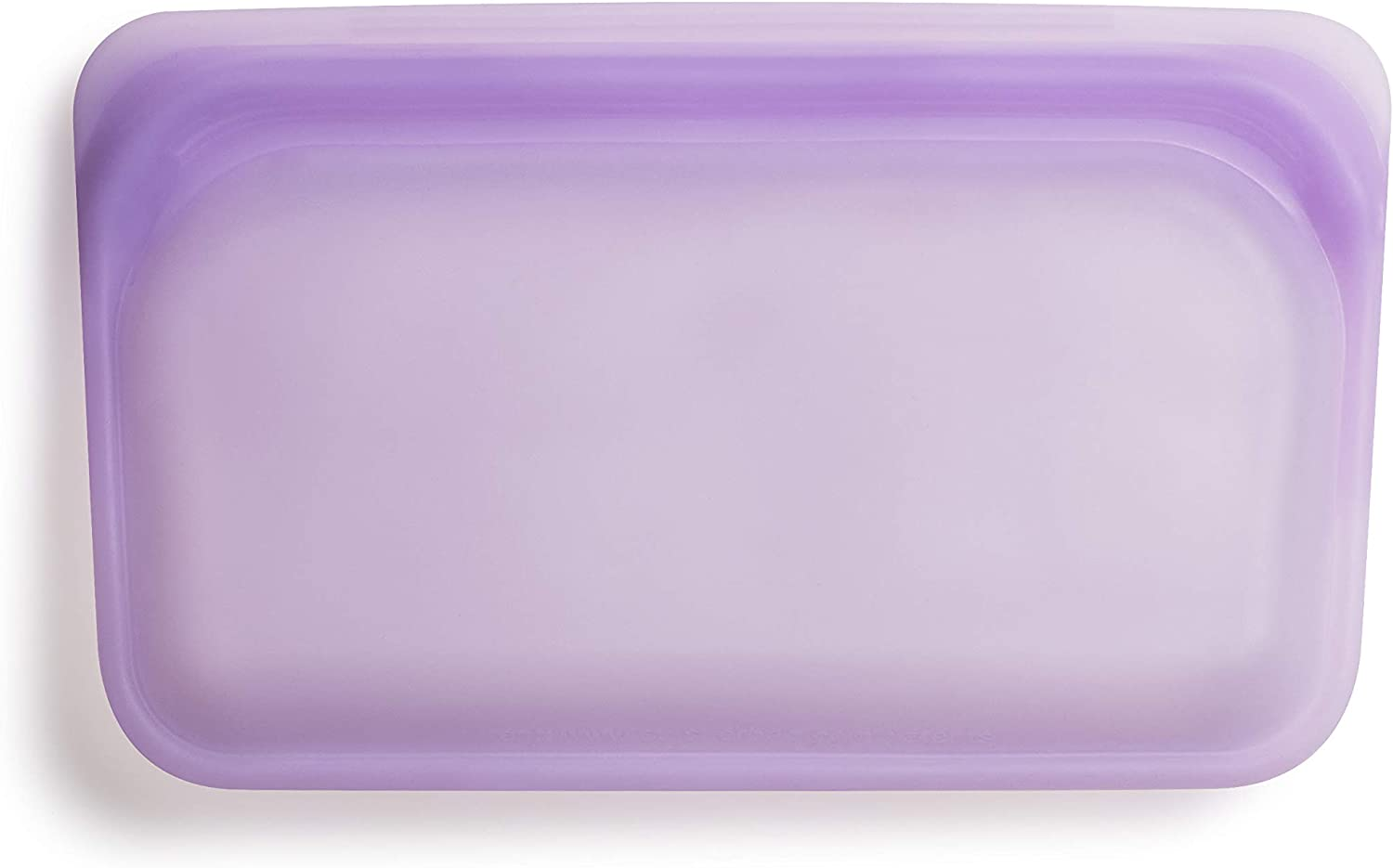Stasher Platinum Silicone Food Grade Reusable Storage Bag, Purple Rainbow (Snack)   Reduce Single-Use Plastic   Cook, Store, Sous Vide, or Freeze   Leakproof, Dishwasher-Safe, Eco-friendly   9.9 Oz