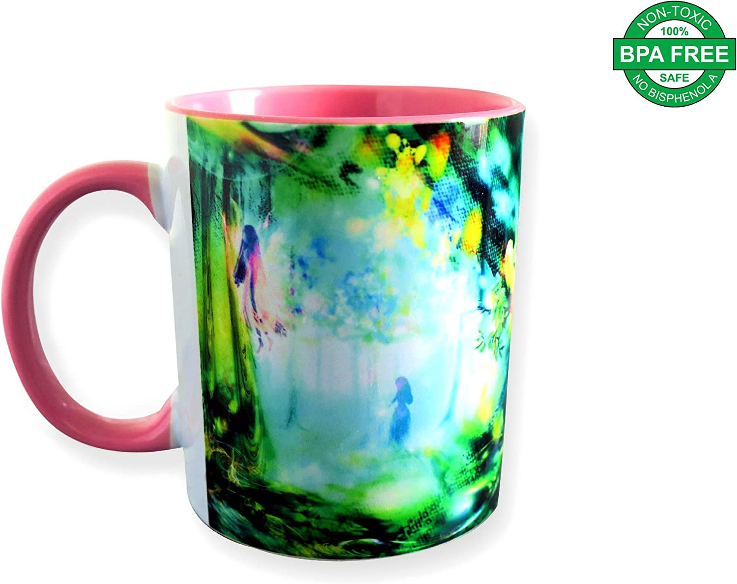 Unique Ceramic Mug | Elegant Luxury Collection | 12 OZ | Coffee Mugs | Cups for Coffee and Tea | Mugs with Designs | Mugs for Girls, Women & Kids | Mugs for Hot Chocolate | Gifts for Her