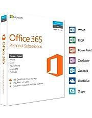 Microsoft Office 365 Personal | 1 Device | 1 Year | PC/Mac | Box