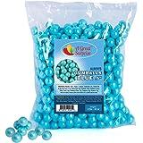 Gumballs in Bulk - Blue Gumballs for Candy Buffet - Mini Shimmer Gumballs 1/2 Inch - Bulk Candy 2 LB
