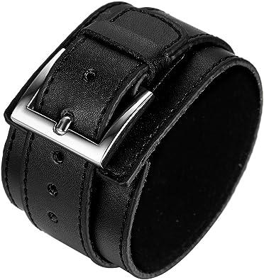 bracelet cuir manchette