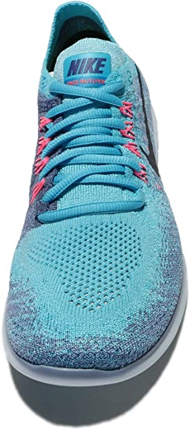 Nike Wmns Free Rn Flyknit 2017, Zapatillas de Trail Running para Mujer, Azul (Work Blue/Dark Obsidian/Chlorine Blue 400), 44.5 EU: Amazon.es: Zapatos y complementos