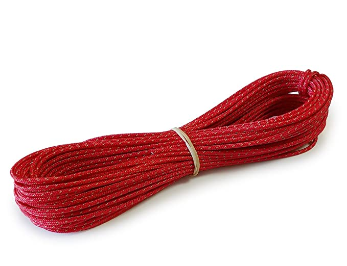 Lawson Equipment Reflective Glowire Cord 2mm (Red, 50\' Hank) Made in ...