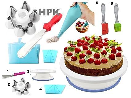 Buy hpk Cake Decoration Tools Set, Plastic, Multicolour Online at ...