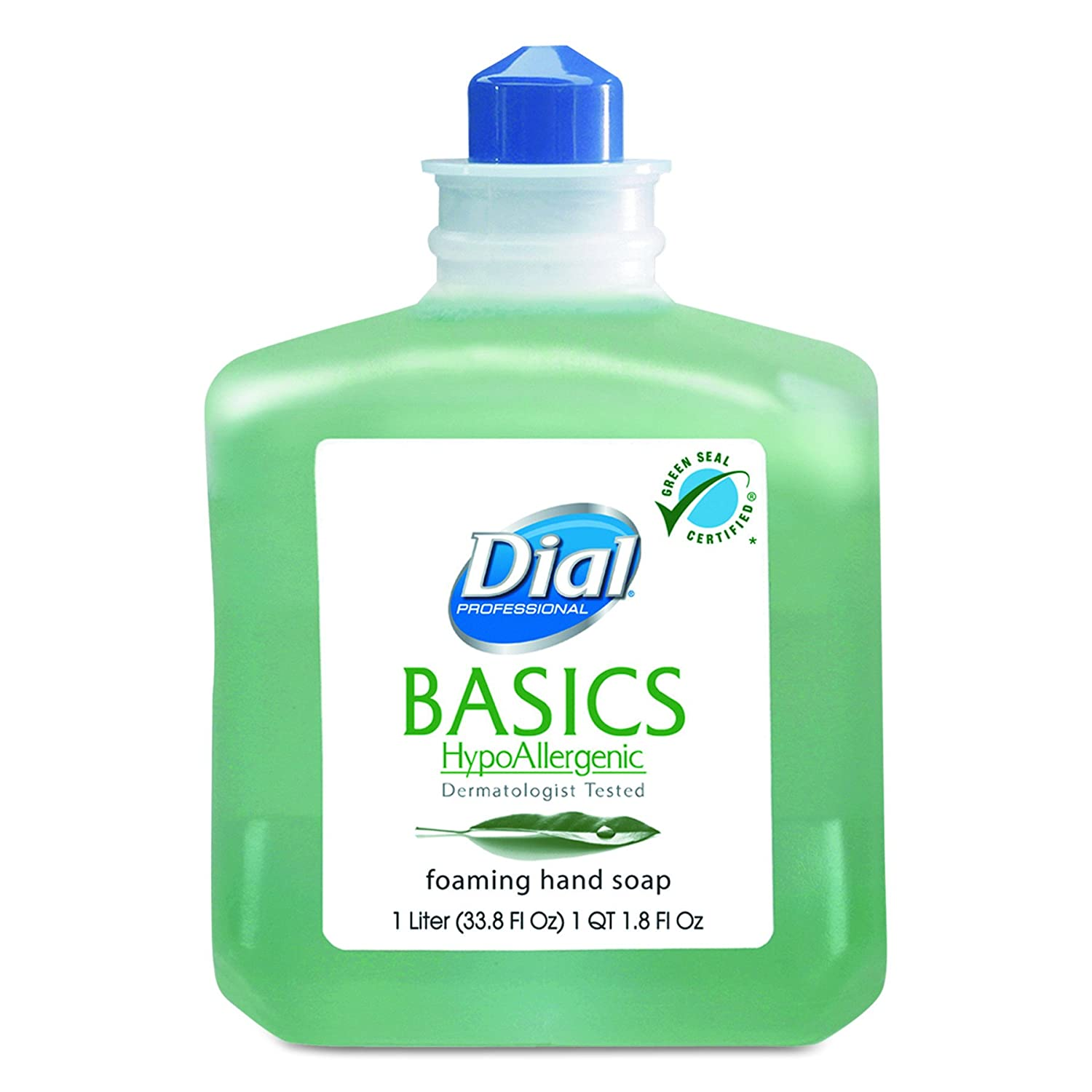 Dial Professional 06060CT Basics Foaming Hand Wash, Refill, 1000mL, Honeysuckle (Case of 6)