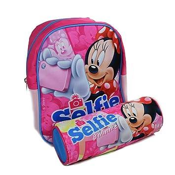 Mochila Mochila Guardería Disney Minnie Con Estuche Tombolino Kit completo Minnie Mouse para niñas escuela 2017: Amazon.es: Equipaje