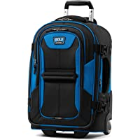 Travelpro Bold Softside Expandable Rollaboard Upright Luggage, Blue/Black, Carry-On 22-Inch