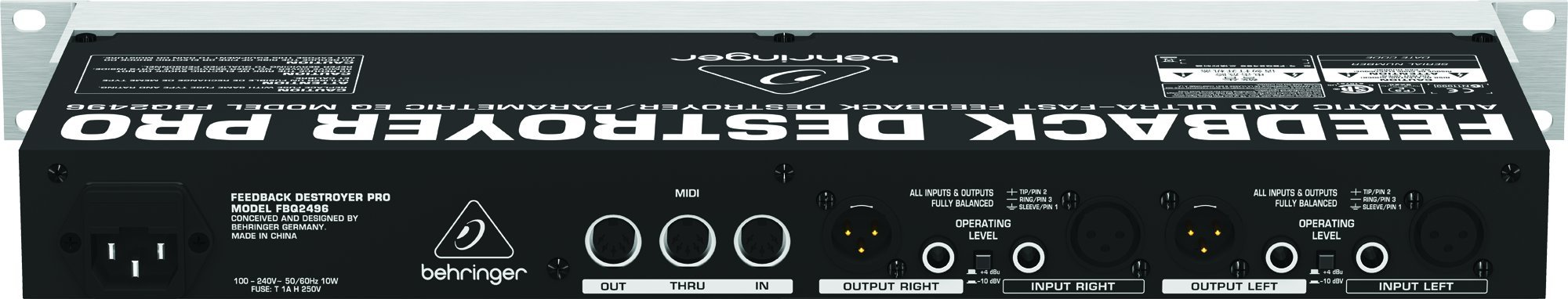 Behringer FBQ2496 Professional Automatic and Ultra-Fast Feedback Destroyer/Parametric EQ