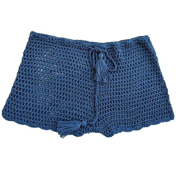 40da85965e3b Internet_Pantalones Cortos de Traje de baño Tejida Hecha a Mano de ...