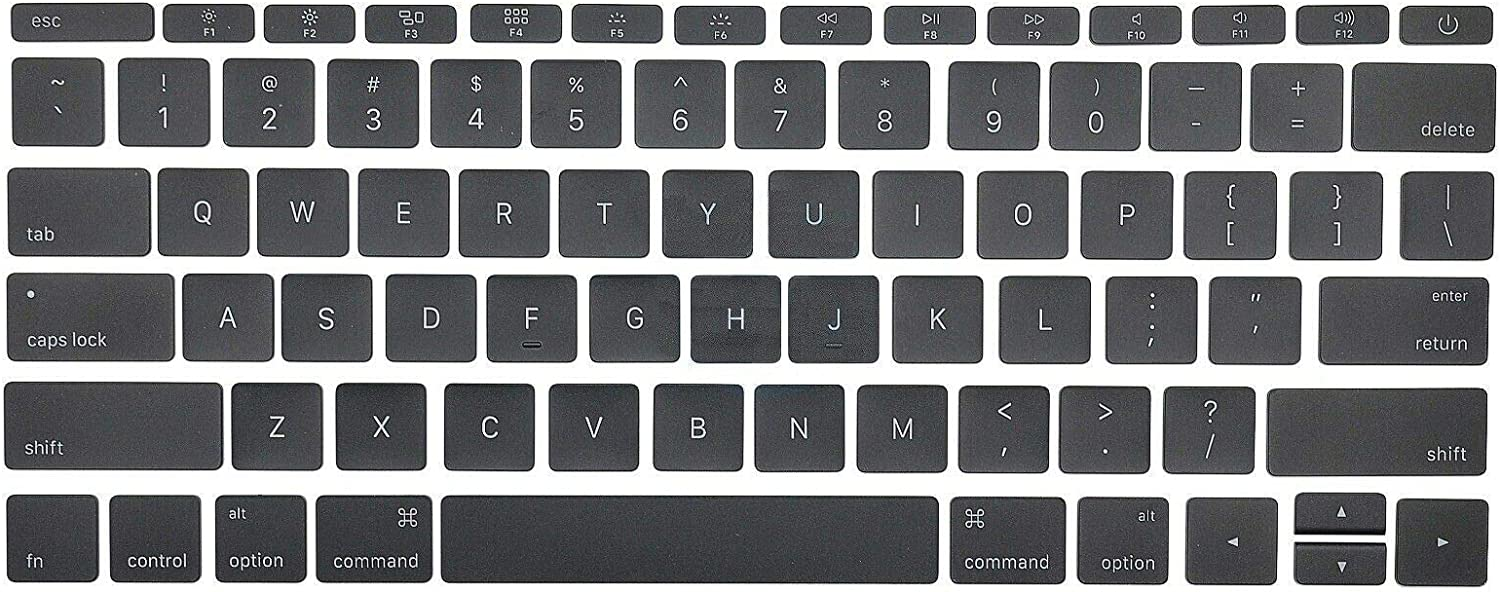 "Individual Replacement Key Cap Full Set of US Keyboard Replacement Keycaps Keys QWERTY for MacBook Pro Retina 12""/13""/15"" A1534 2017 A1706 A1707 A1708 2016 2017"