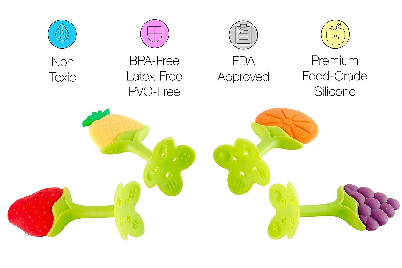 Amazon.com: fda-approved silicona bebé dentición Juguetes W ...
