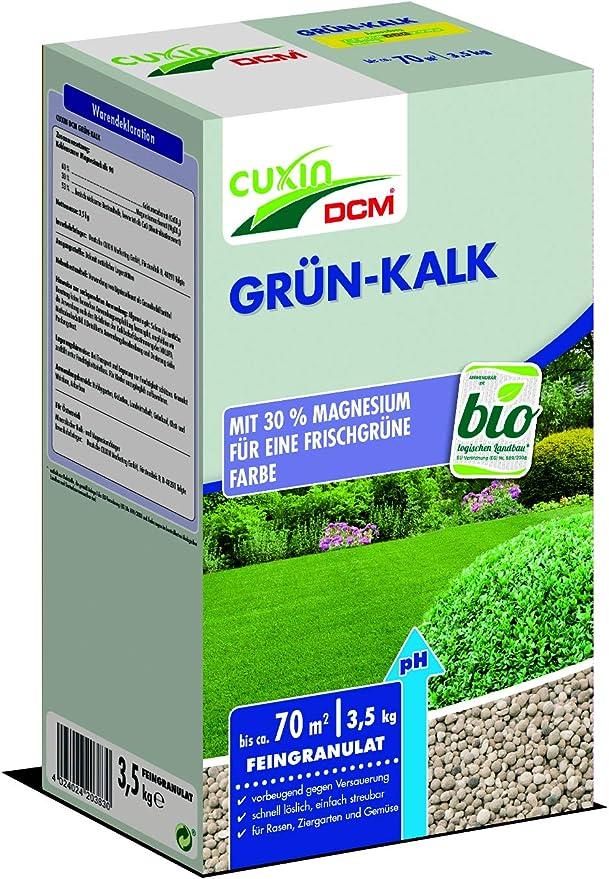 Verde de cal con 30% de magnesio 3, 5 kg primavera abono Césped Flores Jardín cal Césped cal: Amazon.es: Jardín