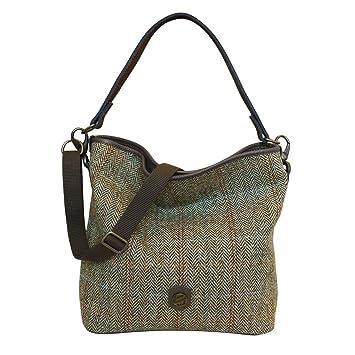 Bonfanti cuir italien et Harris Tweed sac hobo bandoulière - brun (brun clair) l4wVS