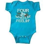 inktastic - Four Wheeling Mudding Infant Creeper Newborn Turquoise 2f1ae
