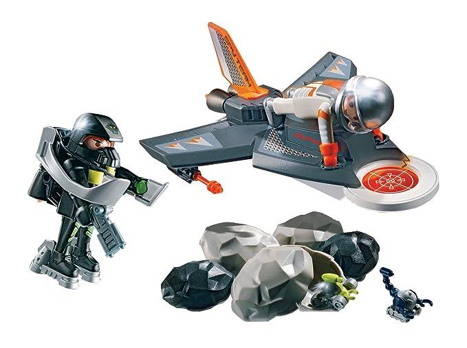 Amazon.com: PLAYMOBIL® Secret Agent Detection Jet Construction Set: Toys & Games