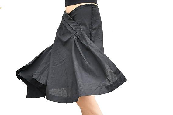 Kelanapparel Women's Casual Linen Skirt Plus Size Custom