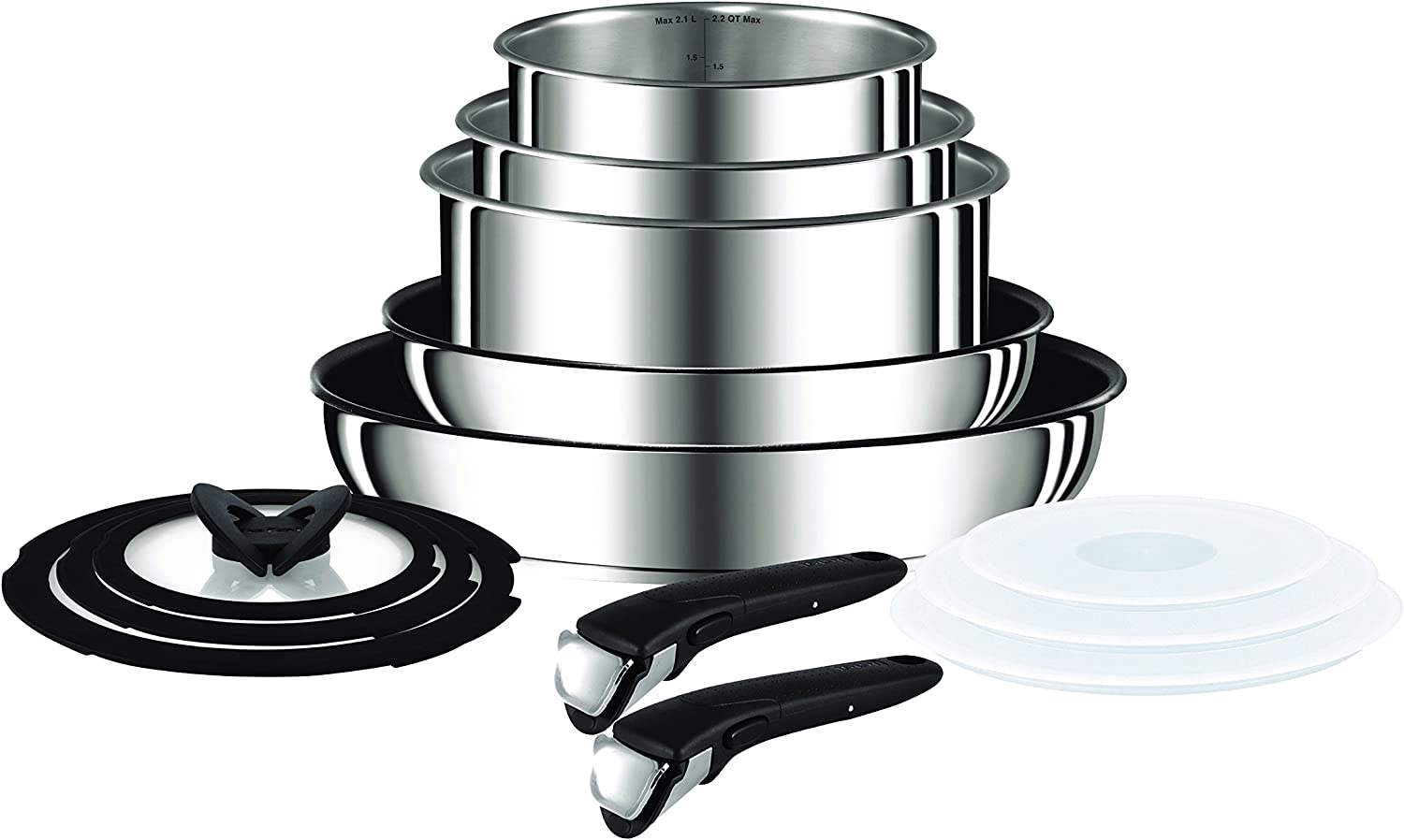 Tefal Ingenio Essential Non Induction 14 Piece Pan Set with Detachable Handles