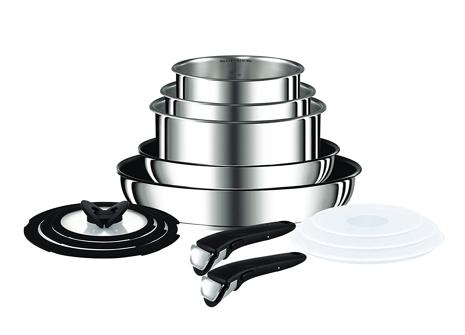 Tefal Ingenio Pots And Pans Set Stainless Steel 13 Piece